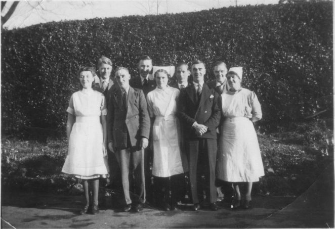 Patients and staff in 1944 | From the private collection of Elaine