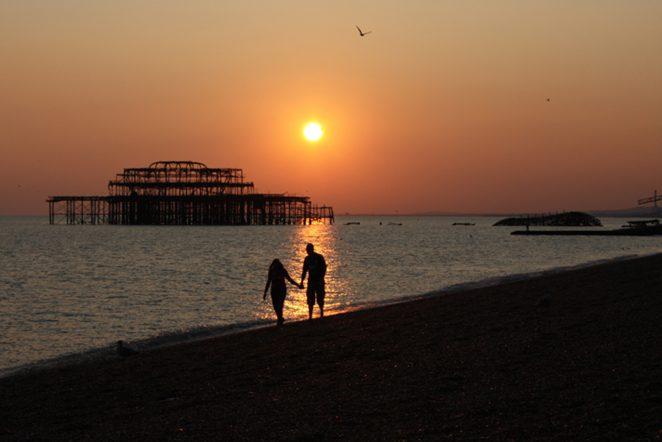 West Pier couple | Photo by Joanne Neville