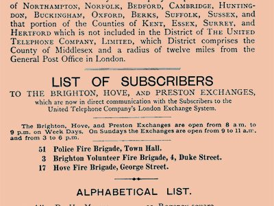 The complete first Brighton directory