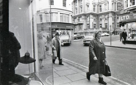 Brighton town centre shopping c1969