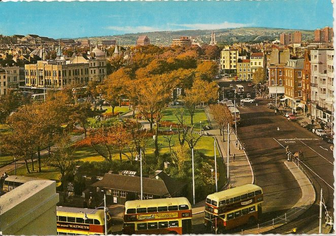 Old Steine with buses | From the private collection of Sue Loveridge