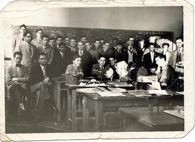 First year class attending the National Diploma course in Electrical and Mechanical Engineering | From the private collection of Barrie Searle