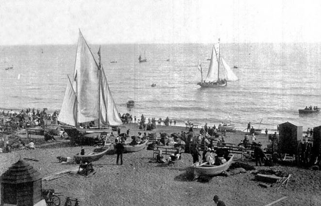 Beach at Brighton | Scanned from an original copy of '67 Views of Brighton, Hove and Neighbourhood', circa 1910, by kind permission of David Burgess