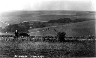 View of Bevendean valley from the racecourse | From the private collection of Sam Carroll