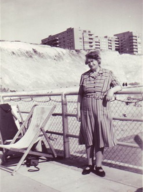 My friend Bev Lee's grandmother c1940s; Marine Gate in background | From the personal collection of Bev Lee