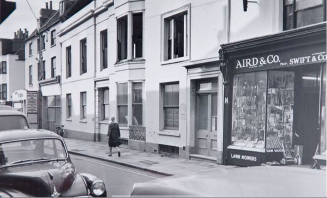 Bond Street showing Aird & Co at number 14; c1967 | Image reproduced with kind permission of The Regency Society and The James Gray Collection