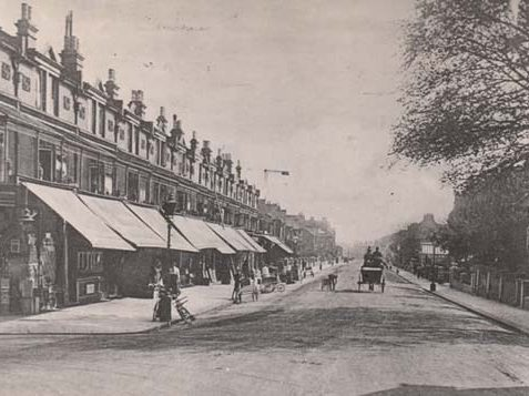 Photo of Boundary Road looking south from the railway crossing, 1908 | Image reproduced with permission from Brighton History Centre