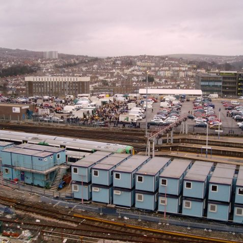 A view over the station before work began. | Photo by Michael Brittain