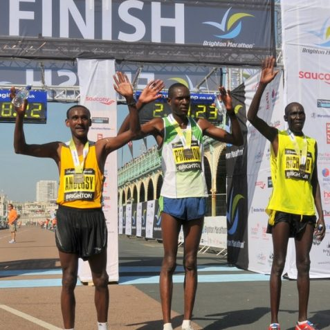 Centre: Men's winner Philemon Kiprop Boit | Photo by Tony Mould