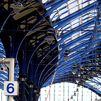 Glass roof of Brighton Station