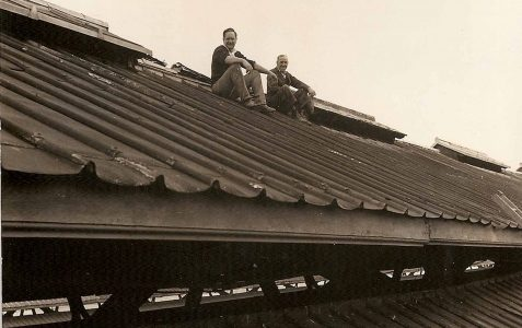 Maintenance of the old roof c1970s
