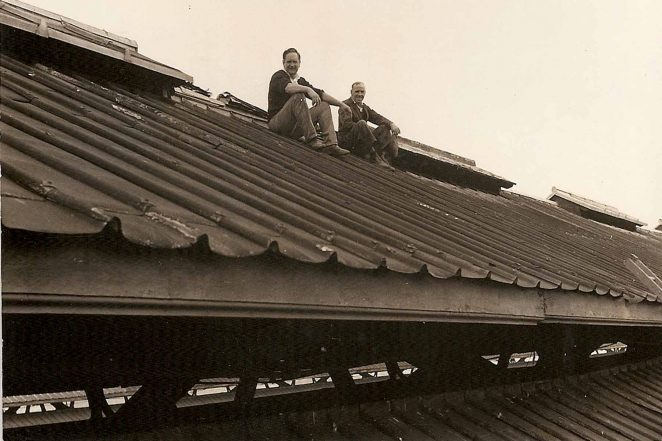 Restoration on Brighton station roof | From the private collection of Ken Chick