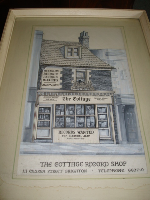 The Cottage record shop | From the private collection of  Alan Peebles