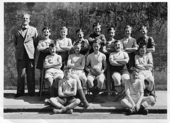 School football team c1949/50 | From the private collection of John Wallace