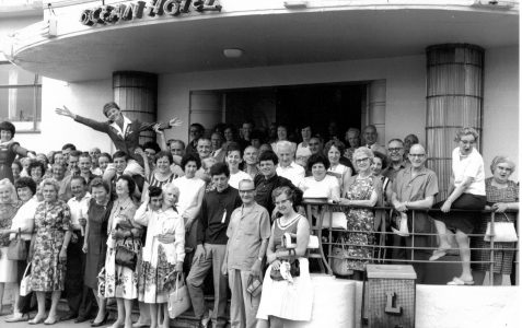 Happy holidaymakers in 1964