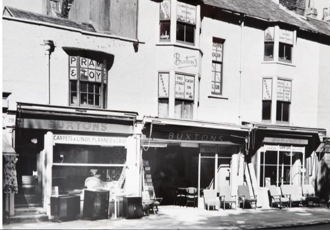 Buxton's furniture shop in the early 1960s | Image reproduced with kind permission of The Regency Society and The James Gray Collection