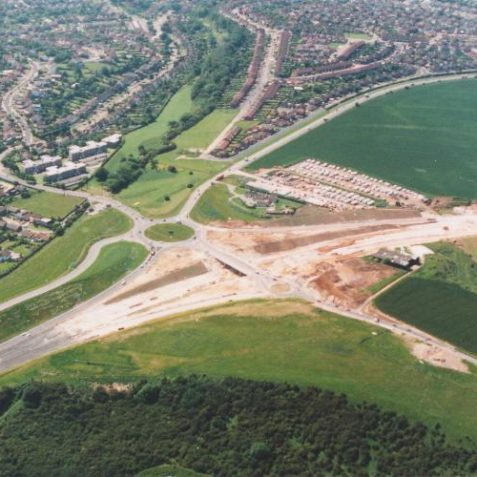 Aerial view of the By Pass, Dyke Road Junction, 1991 | Picture contributed on 11-05-04 by Ian McKenzie, from private collection