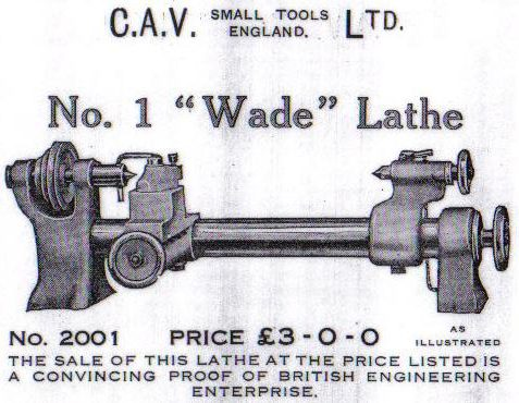 The Wade Lathe, manufactured c.1926 | From the private collection of Peter Groves