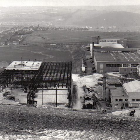 1958. Construction of CVA No 6 Factory | From the private collection of Peter Groves
