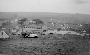 Sheepcote Valley camp site 1956: click on photo to open a large version | From the private collection of Clive Custance