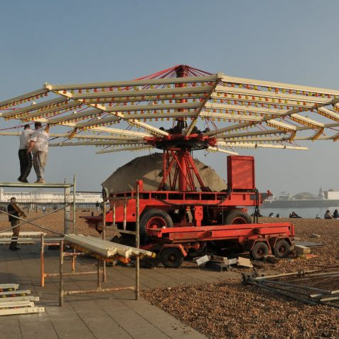 Construction of the Carousel | Photo by Tony Mould