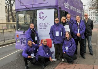 Census bus team with Jennifer and Spooks from My Brighton and Hove | Photo by Tony Mould