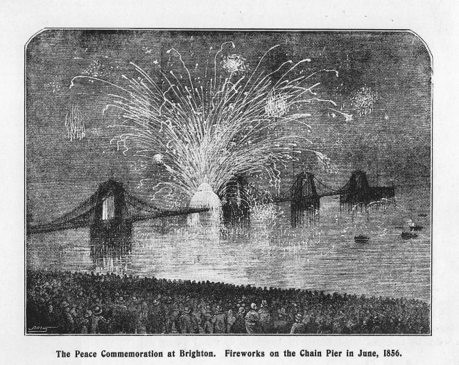 Peace Celebrations on the Chain Pier Brighton June 1856 | From the book