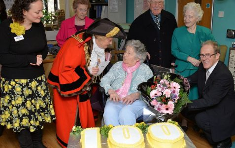 Charlotte White's 100th birthday