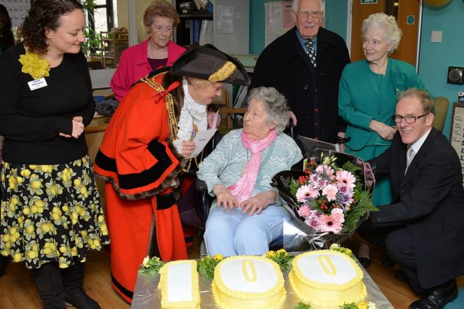 Charlotte on her 100th birthday | Photo by Tony Mould