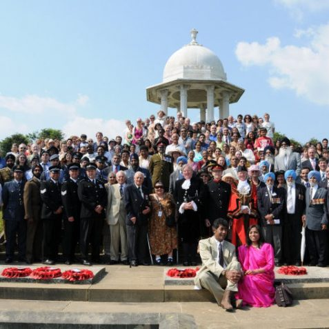 The assembled group who attended the memorial | Photo by Tony Mould