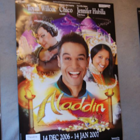 Poster advertising the Theatre Royal pantomime | Photo by Tony Mould