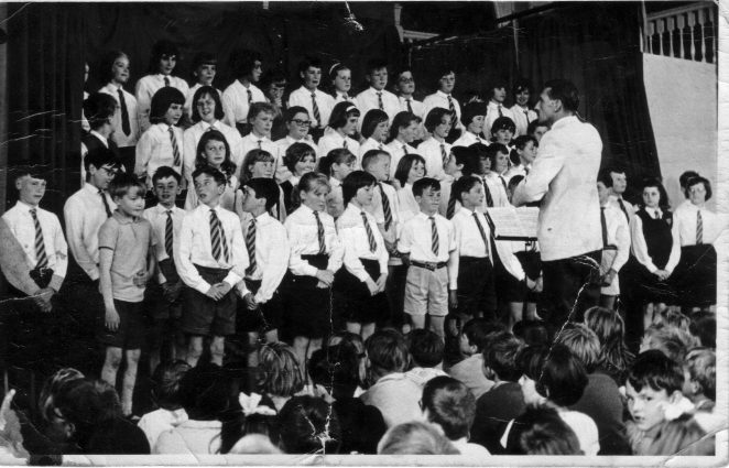 St Luke's School choir c1963: click on the photograph to open a large version in a new window. | From the private collection of Tim Riley