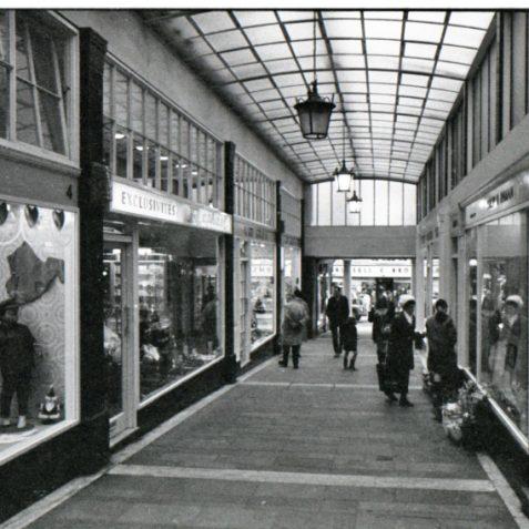 Shopping Arcade c1968 | Photo by Rosalind Merriman
