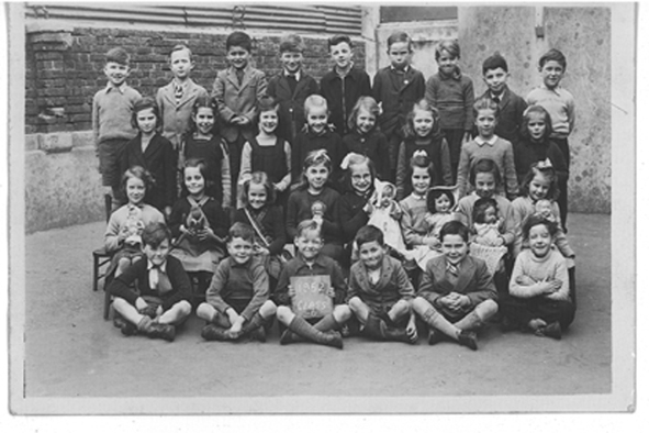This photo was taken in 1952: I am on the bottom row, left hand side | From the private collection of John Leach