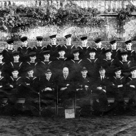 Class number 72 on passing out as trained Telegraphists (S) - Clifford Dennison is pictured middle row second on the right. | Photo from the private collection of  Mr Clifford Dennison