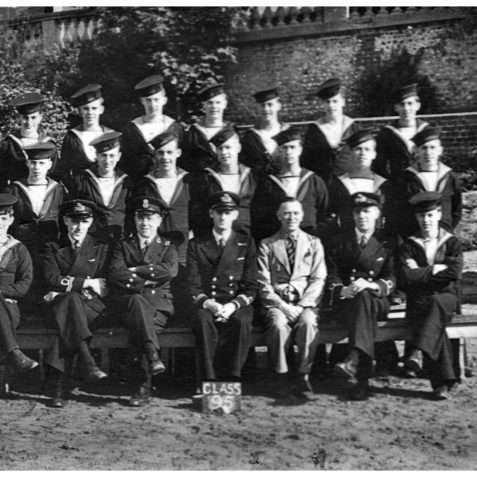 Class 95, the latest class to pass out that a photograph has been located for. | From the private collection of Mrs. Maureen Stranger