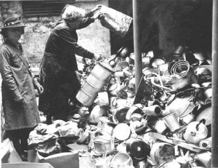 Photo of salvage collection | Image reproduced with permission from Brighton History Centre