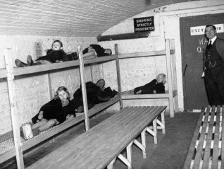 Photo of children in an air raid shelter | Image reproduced with permission from Brighton History Centre