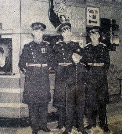 Commissionaires & Bellboy at the SS Brighton in 1936. | All photos from the private collection of Trevor Chepstow.