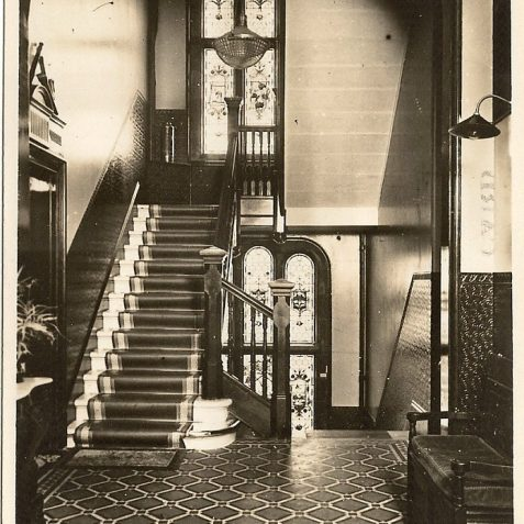 The lobby and main staircase c. 1920s. | From the private collection of Edward Cudlip