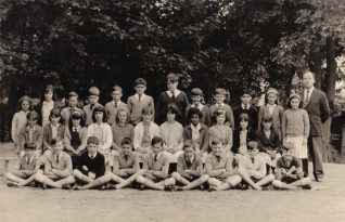 Cottesmore St. Mary's class of 1965, with Mr Joyce | From the private collection of Peter Groves