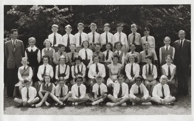 Top Class Summer Term 1959; click on image to open large image | From the private collection of Margaret O'Brien (nee Webb)