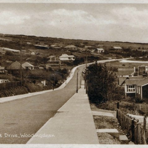 Resent Drive, Woodingdean photographed c1920. | From the private collection of Tony Drury