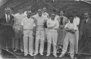 The cricket team | From the private collection of Rodger Olive