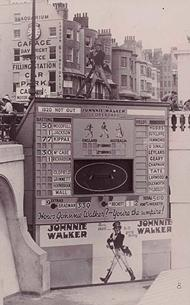 Johnnie Walker cricket scoreboard | From the private collection of Gordon Dean