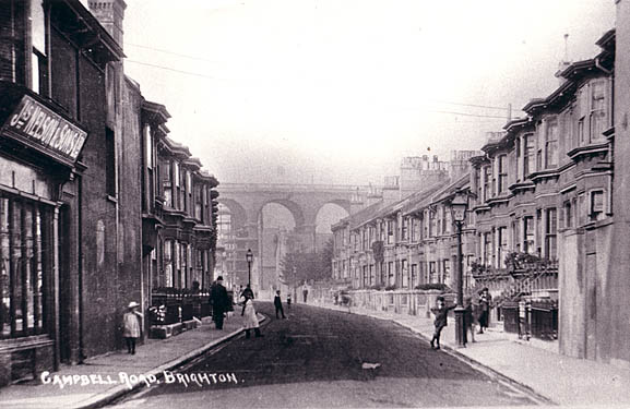 Campbell Road and London Road railway viaduct | Image reproduced with permission from Brighton History Centre