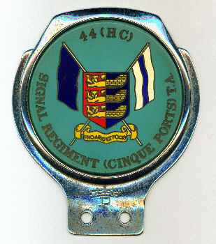 Territorial Army car badge | From the private collection of Roy Grant