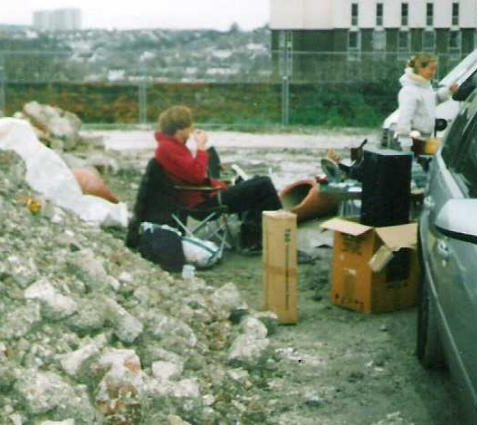 Station Car Boot seller and rubble (7th November 2004) | Photo by Ninka