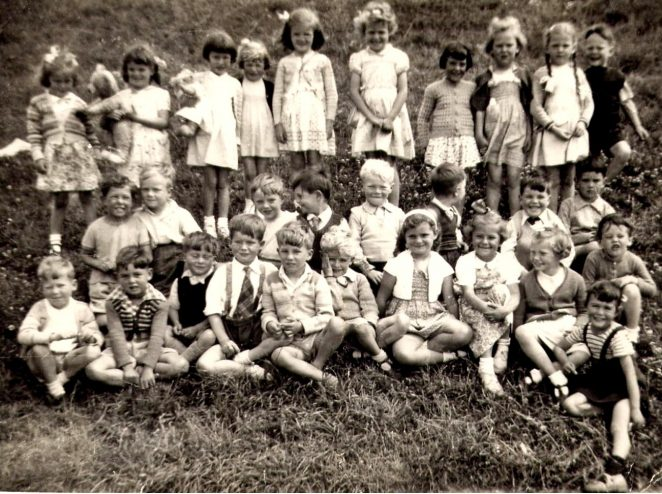 Class photo: c1954/55 - teacher was Miss James | From the private collection of Alan Spicer