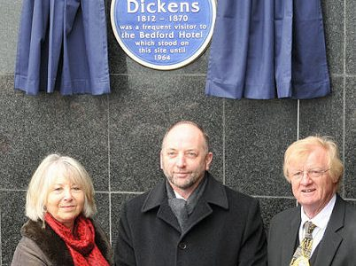 Charles Dickens plaque unveiled